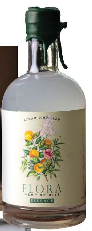 Writt's favorite new sip is Chicago-based Flora Hemp nonalcoholic spirits PHOTO COURTESY OF: FLORA HEMP SPIRITS