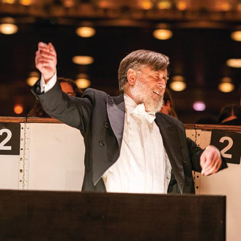 Outgoing Music Director Sir Andrew Davis.  PHOTO BY: TODD ROSENBERG